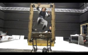 Airram stunt rehearsal for commercial